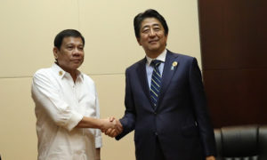 Shinzo Abe and Rodrigo Duterte