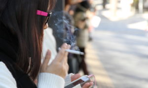 Japanese woman smoking