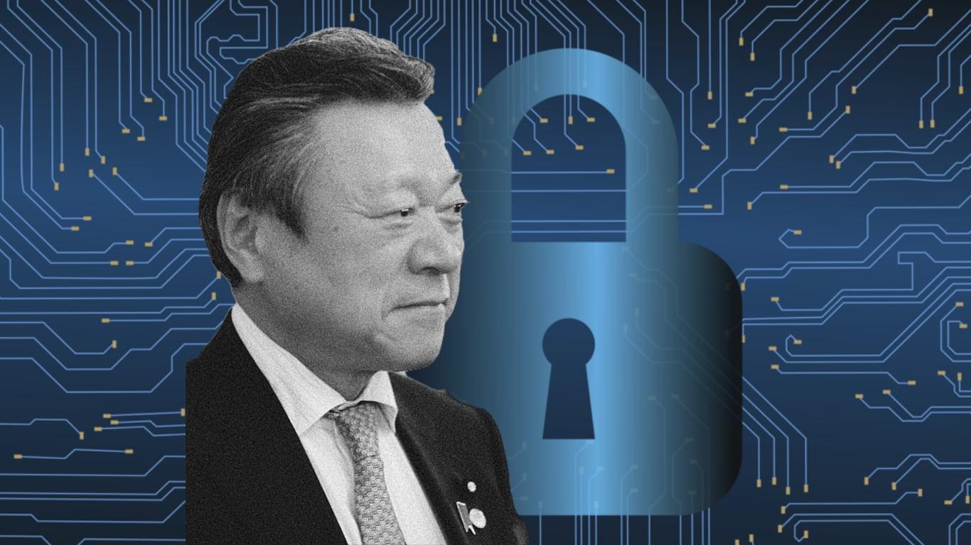 Japan's Minister for Cybersecurity Yoshitaka Sakurada