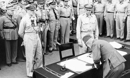 Japanese Surrender at Tokyo Bay 1945