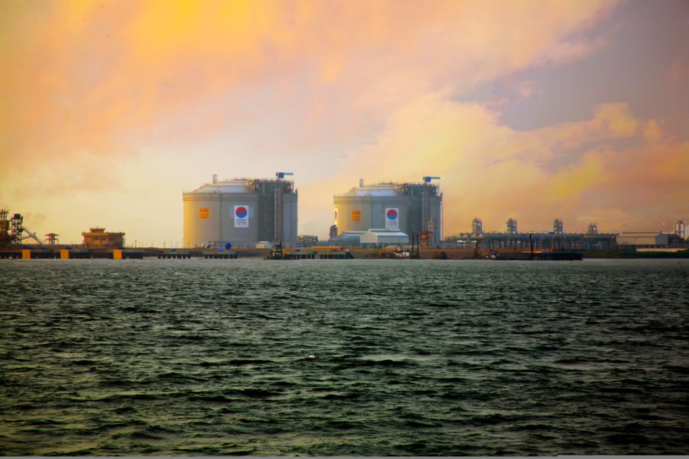 LNG terminals in Kochi. Japan depends heavily on energy imports via the Strait of Hormuz, next to Iran.